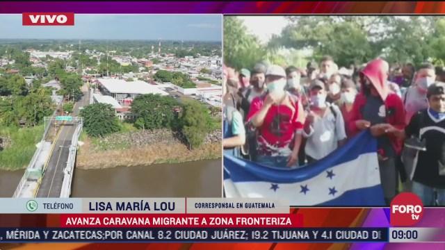 caravana de migrantes se fragmenta en dos partes en guatemala