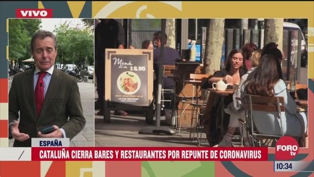 cataluna cierra bares y restaurantes por repunte de covid
