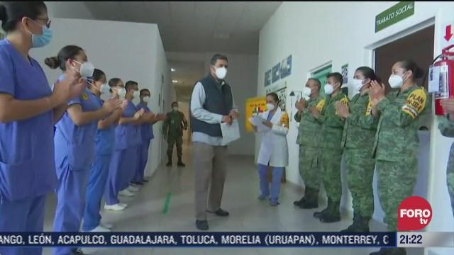 celebran dia del medico en la sedena en medio de la pandemia de covid