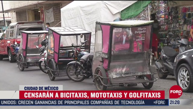 censaran a mototaxis y bicitaxis de la ciudad de mexico