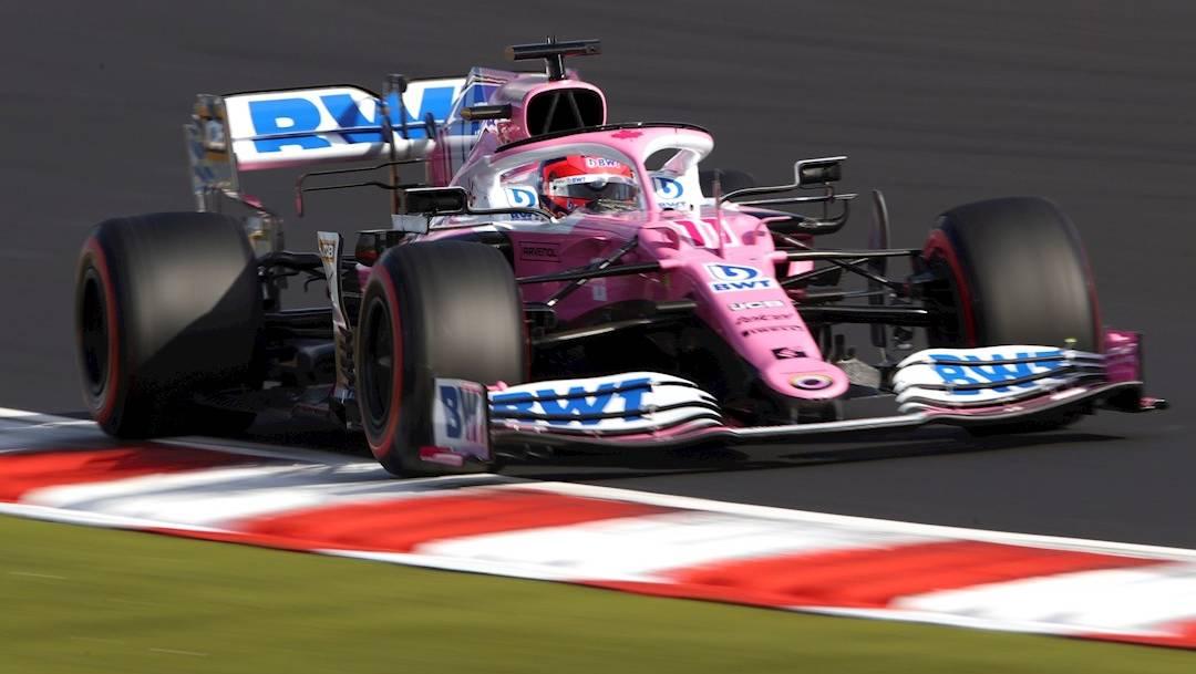 El mexicano Sergio 'Checo' Pérez firmó una gran carrera para terminar cuarto en el Gran Premio de Eifel