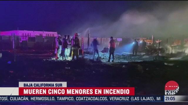 cinco menores mueren en incendio en baja california sur