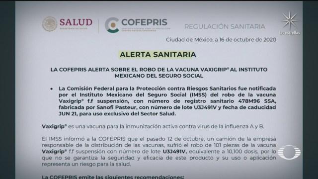 cofepris emite nueva alerta sanitaria relacionada con la vacuna vaxigrip