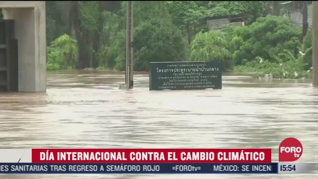 conmemoran dia internacional contra el cambio climatico