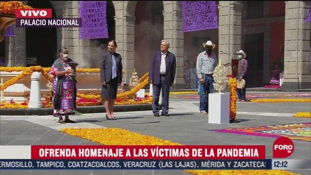 conmemoran el dia de muertos en palacio nacional