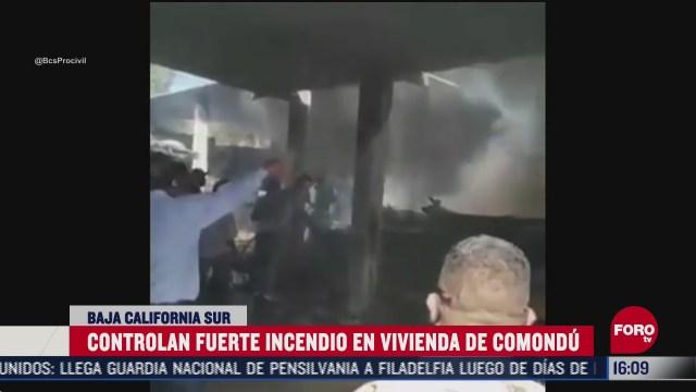 controlan incendio en vivienda de comondu bcs