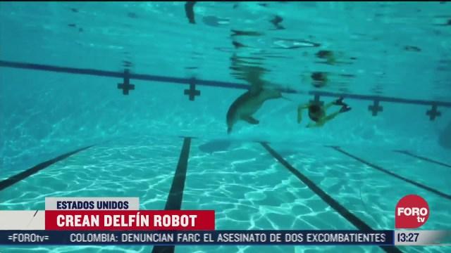 crean robot delfin para parques acuaticos