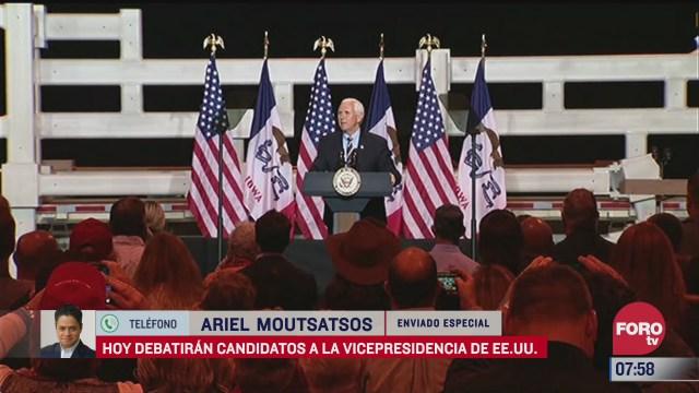 debatiran candidatos a la vicepresidencia de estados unidos