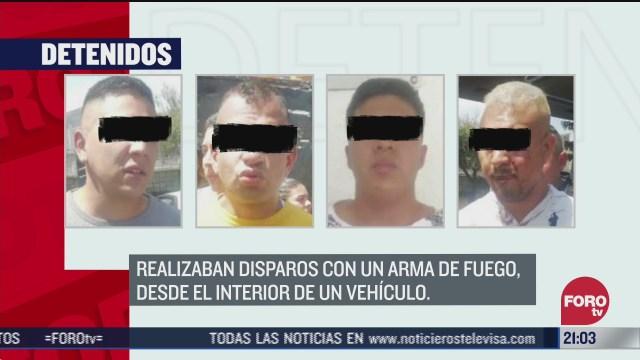 dos detenidos en cdmx por disparos
