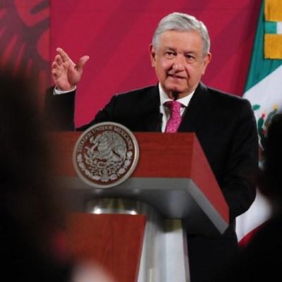 El presidente AMLO habla en conferencia matutina