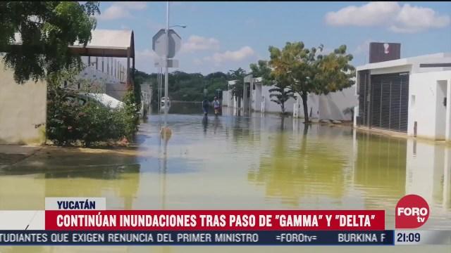 en yucatan continuan inundaciones tras delta y gamma