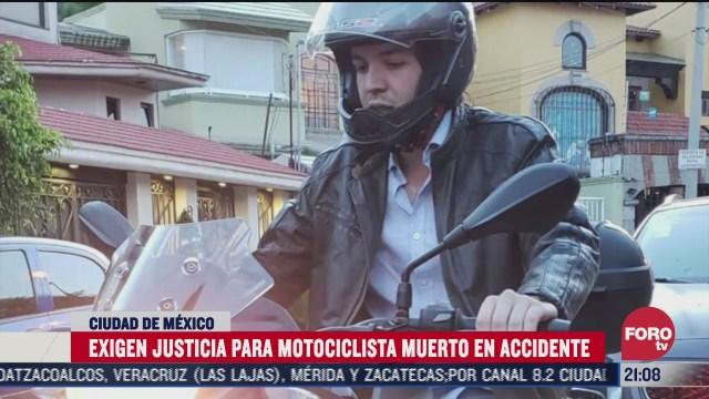 exigen justicia para motociclista muerto en cdmx