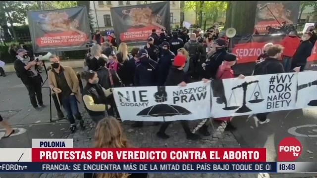 fallo sobre el aborto en polonia desata protestas