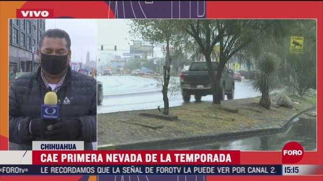 frente frio numero 9 causa nevadas en chihuahua