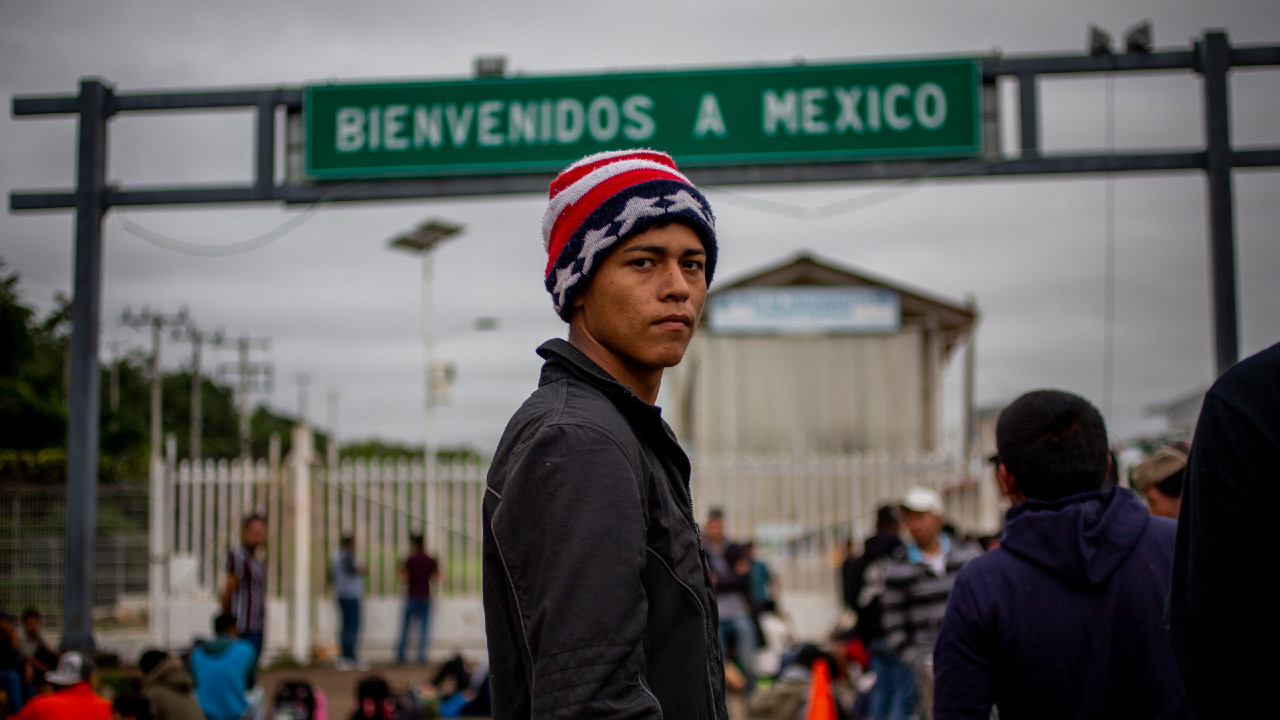 Donald Trump, Joe Biden, política exterior, caravana migrante
