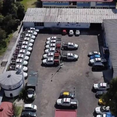 Gobernador Miguel Barbosa niega que 200 patrullas estén paradas en Puebla y las mueven de lugar