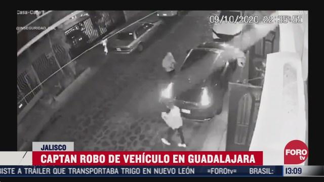 graban robo de vehiculo en guadalajara