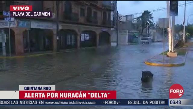 huracan delta impacta playa del carmen en quintana roo