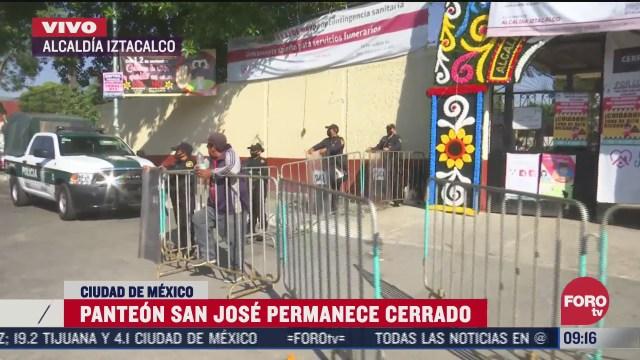 inicia cierre de panteones en la ciudad de mexico