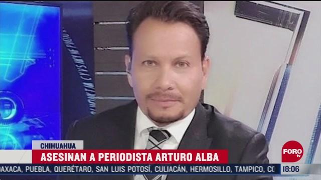 investigan asesinato del periodista arturo alba