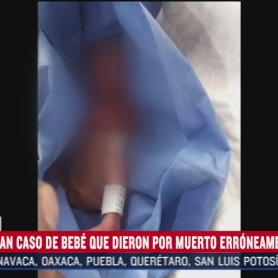 investigan caso de bebe prematuro que fue dado por muerto