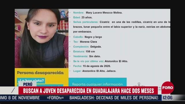 joven peruana desaparece en jalisco mexico