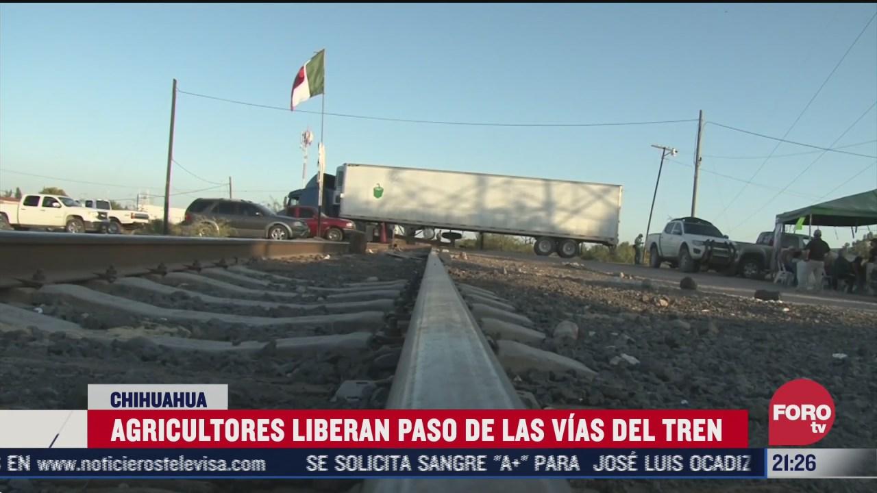 liberan vias de tren tomadas en chihuahua por disputa de agua
