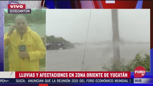 lluvias y afectaciones en la zona oriente de yucatan tras paso de delta