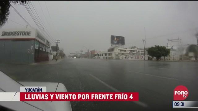 lluvias y vientos en la peninsula de yucatan por frente frio