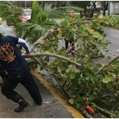 Parte de Cancún sigue sin luz y agua tras paso del huracán 'Delta'