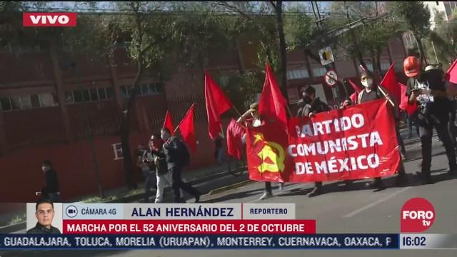 marchan por el 52 aniversario del 2 de octubre