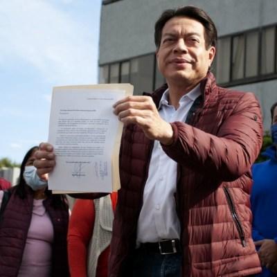 Mario Delgado pide al INE acelerar encuesta para definir al presidente de Morena
