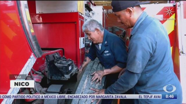 mecanico invidente al servicio de los bomberos