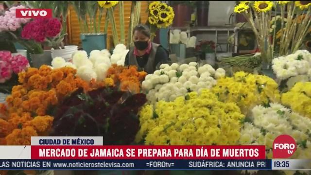 mercado de jamaica se prepara para dia de muertos