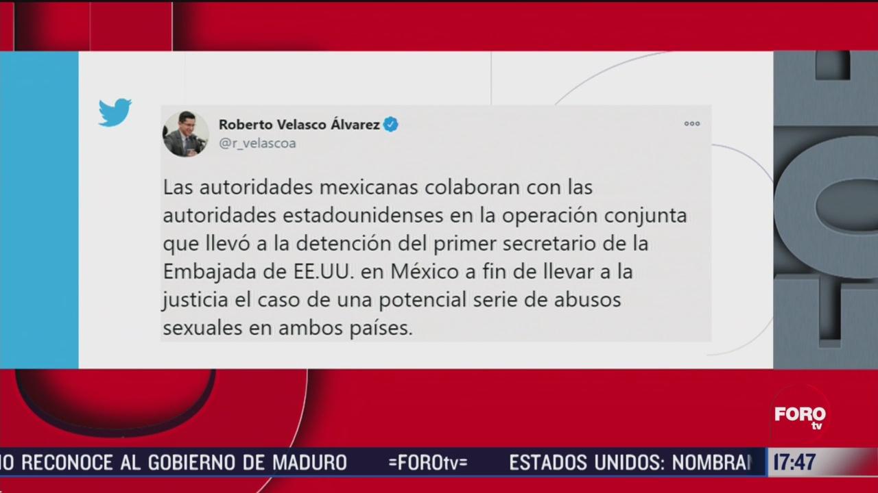 mexico colabora en detencion de trabajador de embajada de eeuu