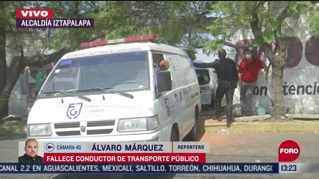 muere conductor de transporte publico en alcaldia iztapalapa