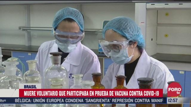muere en brasil voluntario de vacuna contra covid