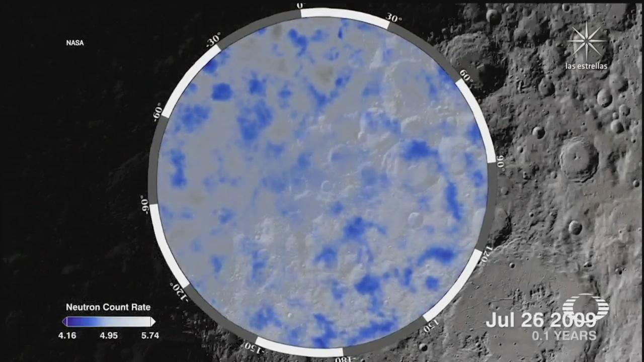 nasa confirma presencia de agua en la superficie de la luna