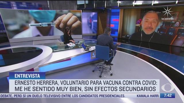 no he tenido efecto secundario en ensayos de vacuna covid 19 dice voluntario mexicano en espana