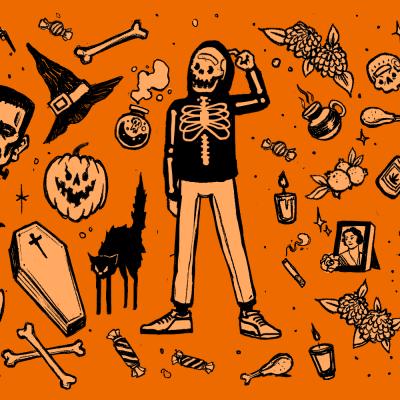 Halloween Día Muertos Tradición Imagen