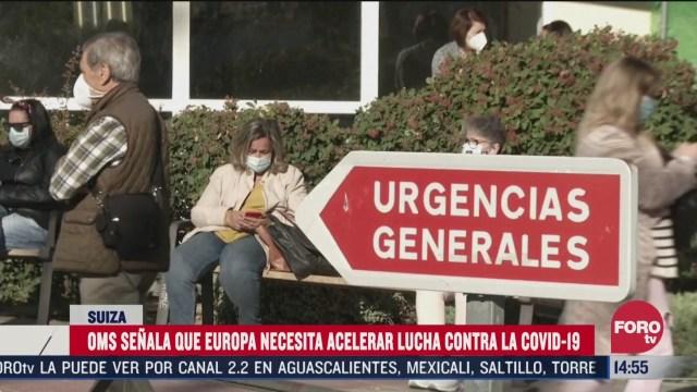 oms pide a europa acelerar lucha contra el covid