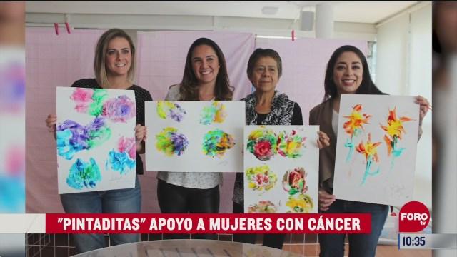 pintaditas en apoyo a mujeres con cancer
