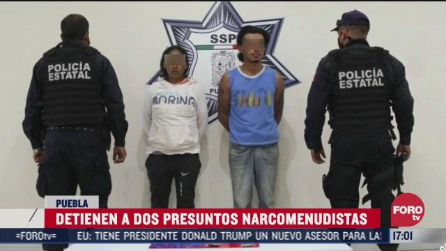 policia detiene a narcomenudistas en puebla