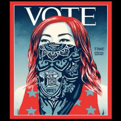 Por primera vez, TIME cambia su logotipo por la palabra VOTE