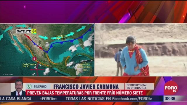 preven bajas temperaturas en chihuahua por frente frio