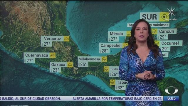 preven lluvias fuertes en el norte de chiapas y tabasco