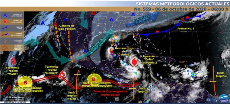 Pronóstico de clima en la República Mexicana