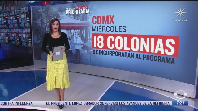 que colonias se incorporaran al programa de atencion prioritaria por covid 19 en la cdmx
