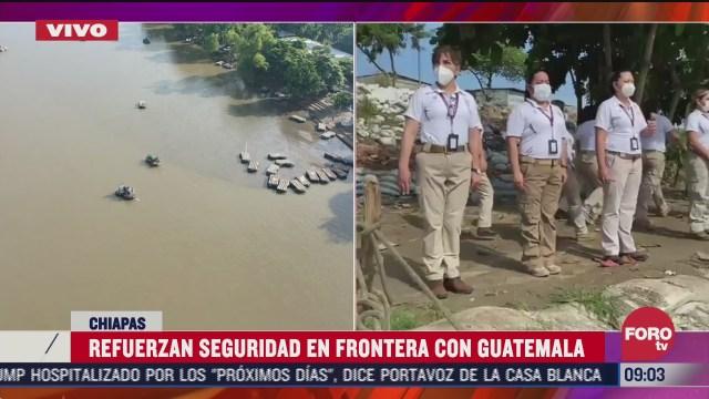 refuerzan seguridad en frontera de mexico con guatemala por caravana migrante