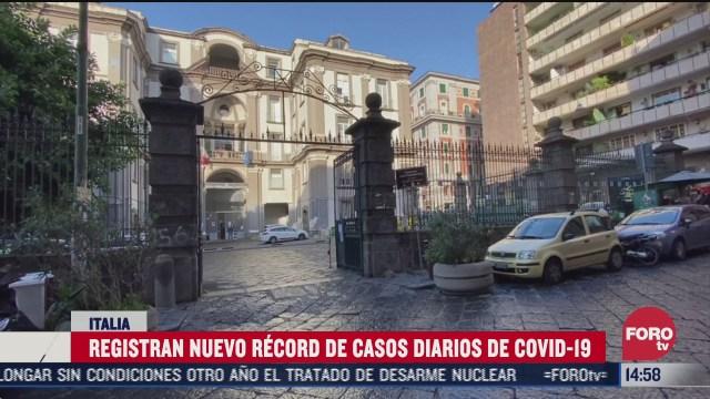 registran nuevo record de casos diarios de covid 19 en italia